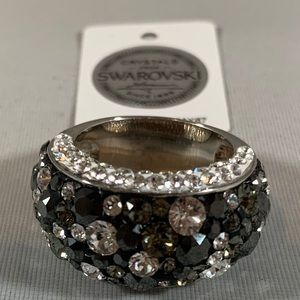 😍 SWAROVSKI Crystal Silver Dome Ring